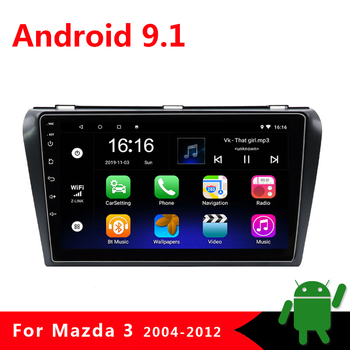 2 Din Car Multimedia Radio Video Player for Mazda 3 BK Mazda3 2004-2012 2din Android 9.1 Navigation GPS Autoradio Stereo 2G+32G image