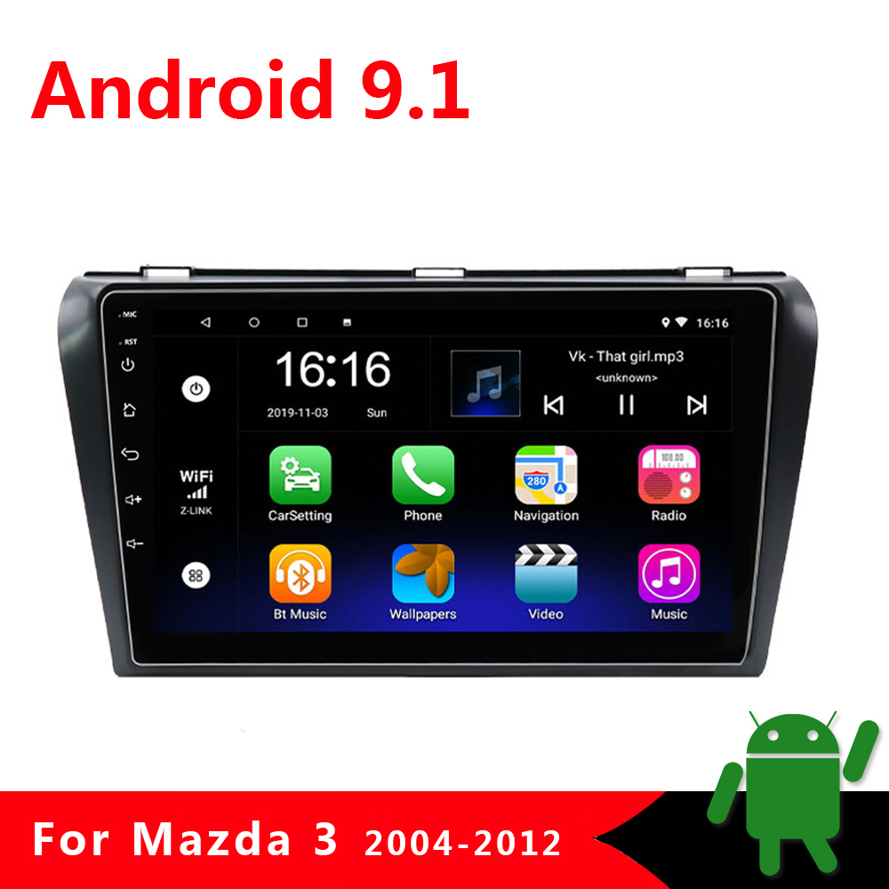 2 Din Car Multimedia Radio Video Player for <font><b>Mazda</b></font> <font><b>3</b></font> BK Mazda3 2004-2012 2din Android 9.1 <font><b>Navigation</b></font> <font><b>GPS</b></font> Autoradio Stereo 2G+32G image