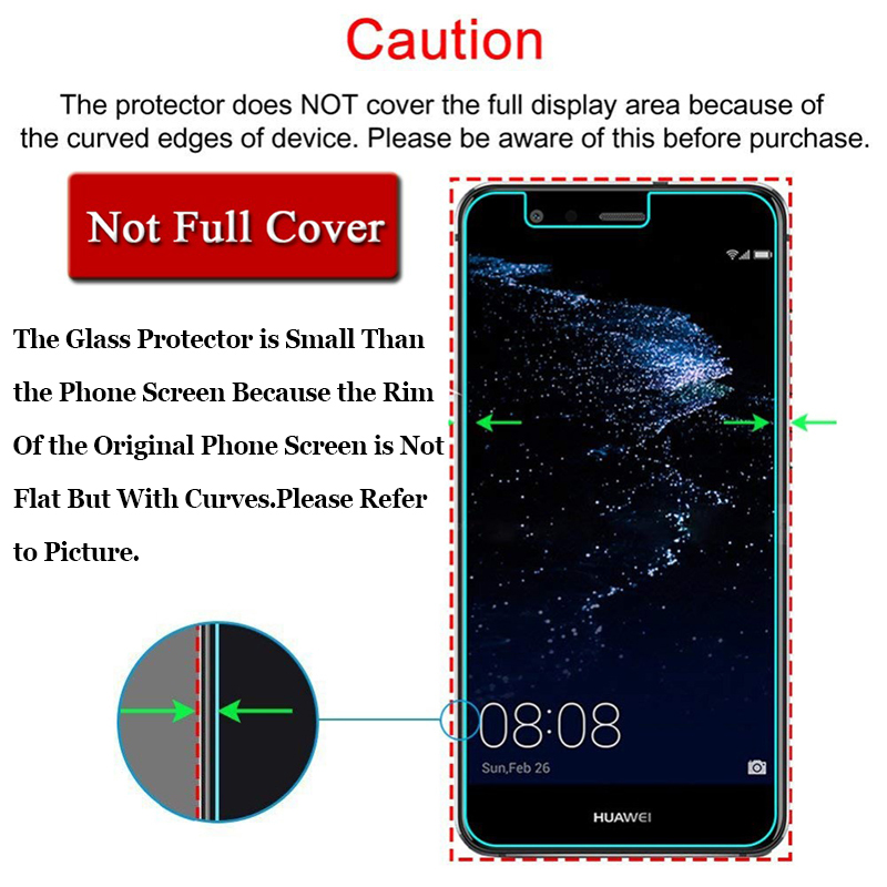 Protective glass for huawei p 8 lite p8 p9 p10 2017 8 9 10 8lite 9lite 10lite huawey the tempered glas on screen protector flim Pakistan
