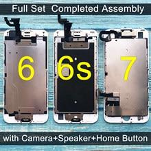 Tela LCD com touch para iPhone, display de reposição completo, com câmera e botão de início, para iPhone 6, 6S, 7