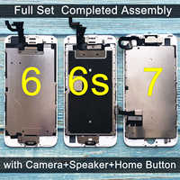 For iPhone 6 LCD Full set Assembly Complete Touch For iPhone 6S Screen Replacement Display For iphone 7 lcd camera+home button