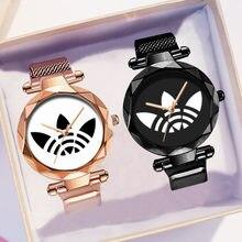 Panie magnetyczne Starry Sky zegar luksusowe kobiety zegarki moda diament kobiet zegarki kwarcowe Relogio Feminino Zegarek Damski