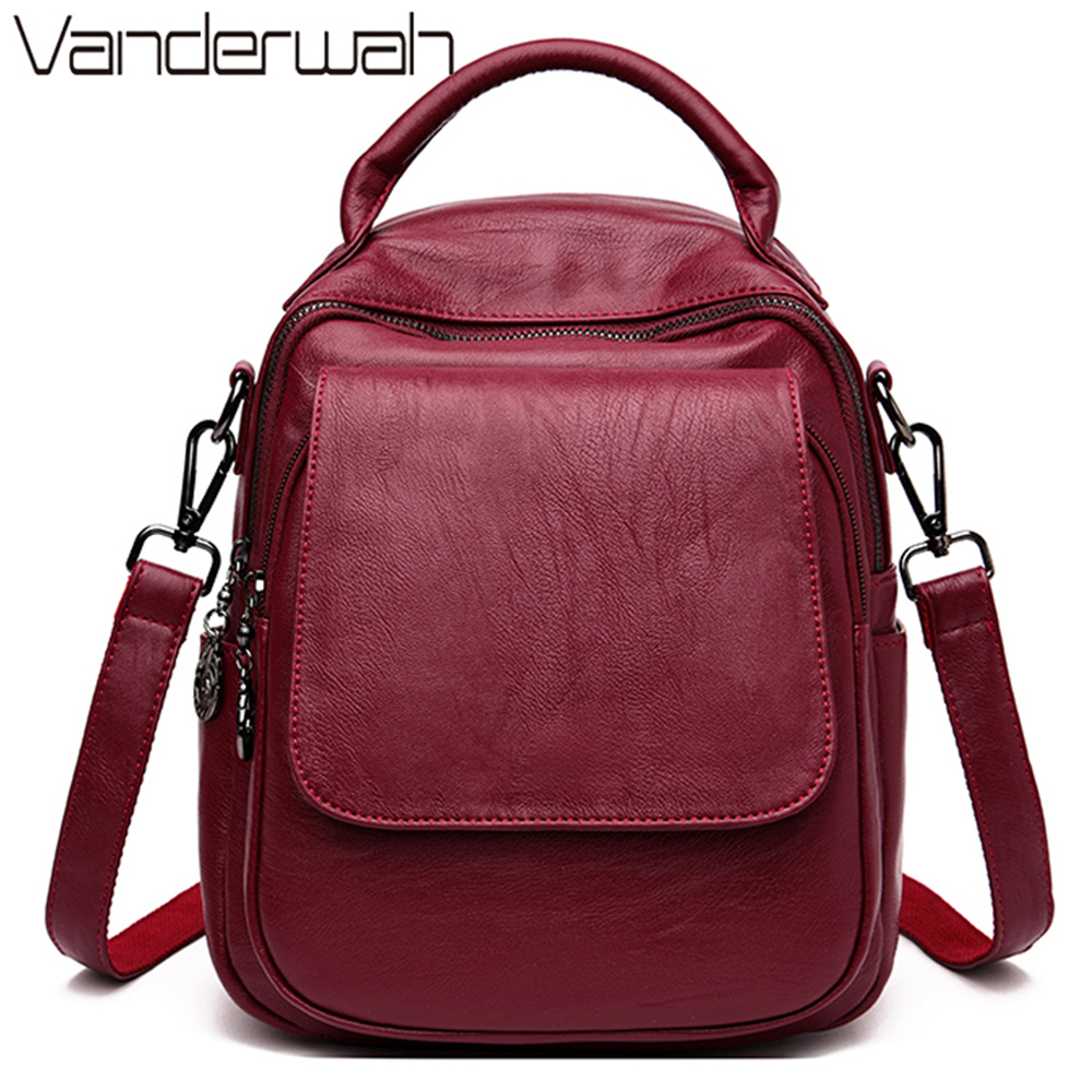 Brand New 3 In 1 Backpack Women Leather Luxury Backpack Women Casual Backpack Satchel School Bag For Teenage Girls Sac A Dos