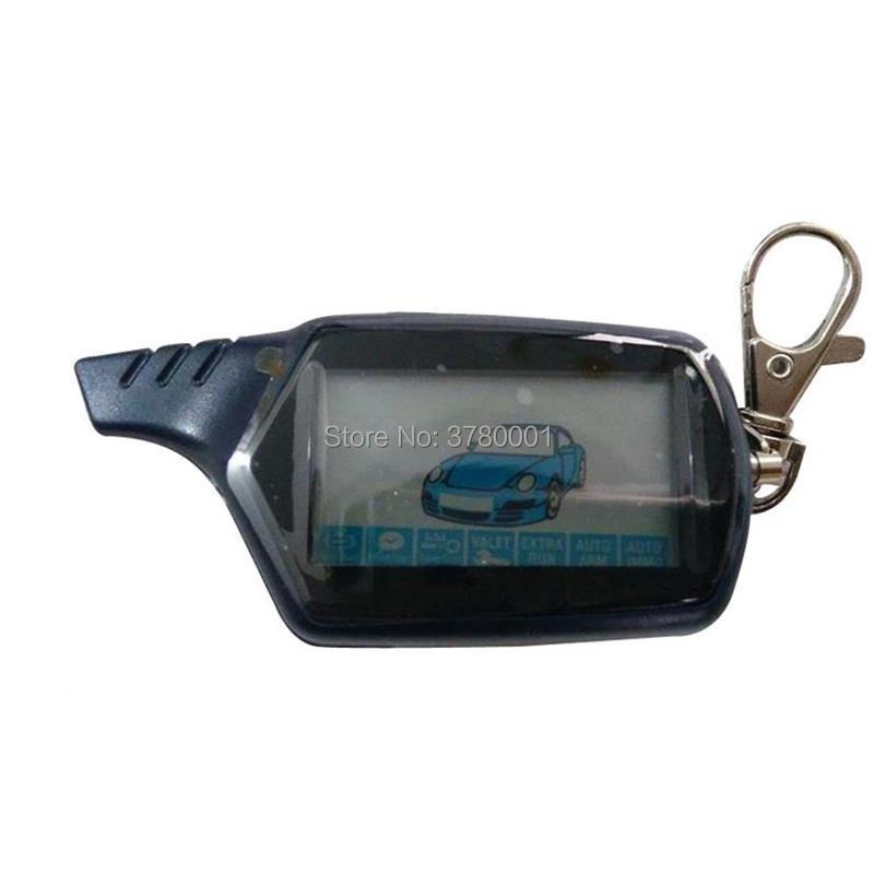 Russian B9 LCD Remote Control Keychain For Two Way Car Alarm Key Engine Start Starline B9 / KGB FX-7 FX7 FX 7