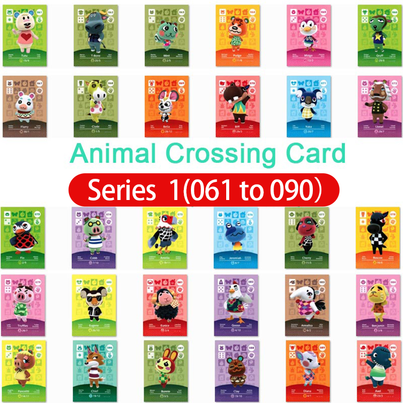 Animal Crossing Card Amiibo Card Work For Ns Games Series 1 Animals Crossing 61 To 90 Dropshipping