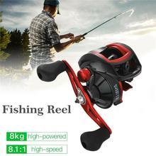 MEEGO  17+1BB 8.1:1 8kg  Carretilha de pesca Abu garcia low profile reel bait casting Fishing reel baitcasting Fishing reels