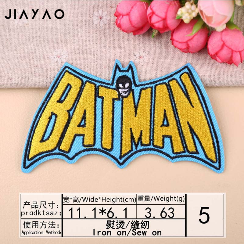 Купить с кэшбэком Embroidery patch stickers boutique patch DIY bat darts PEACE text clothes sewing ironing decorative cloth stickers