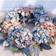 Hortênsia grinalda casamento grinalda flor de natal guirlanda decoração da porta de casa dropship