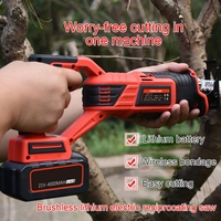 Li Ion 4000mAh Cordless Reciprocating Saw Electric Saw Blades Wood Metal Chain Saws Angle Cutting Woodworking Power Tool