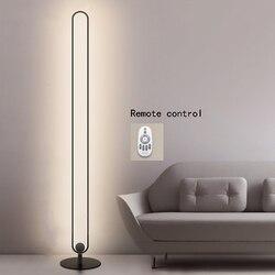 Controle remoto moderno u forma lâmpadas de assoalho metal led pode ser escurecido suporte luz para sala estar quarto atmosfera lâmpada