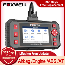 فوكسويل NT604 النخبة OBD 2 أداة التشخيص المهنية سيارة السيارات الماسح الضوئي ABS وسادة هوائية في المحرك OBD 2 رمز القارئ تحديث مجاني