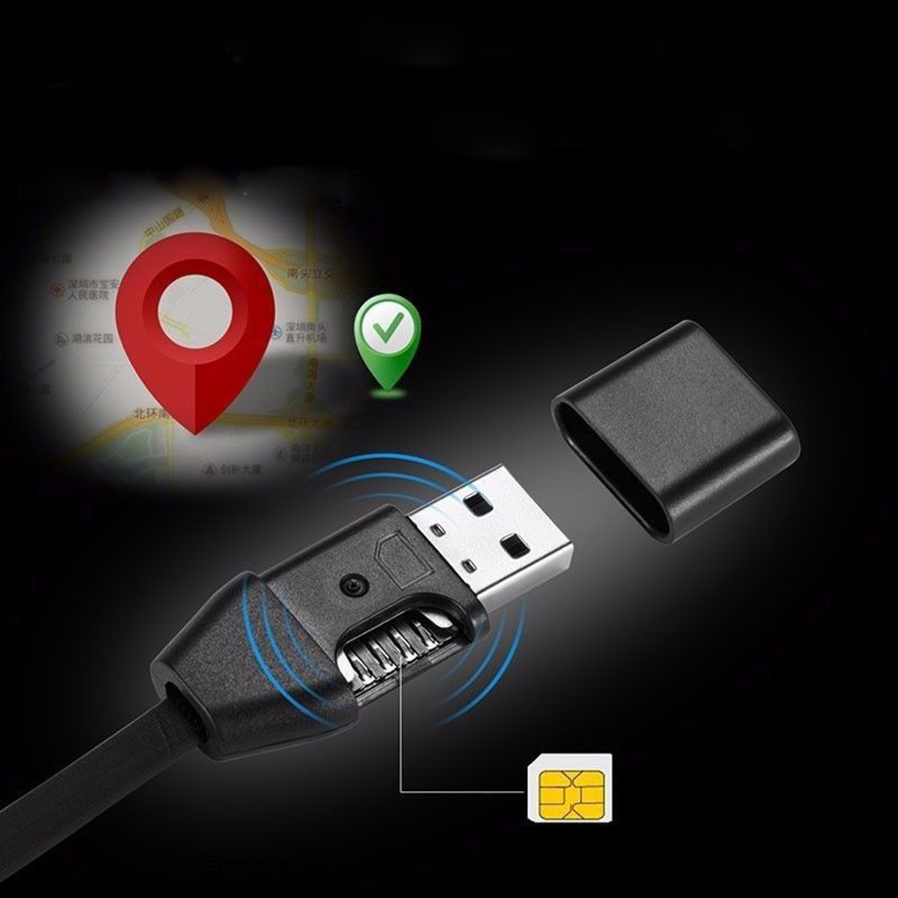Franchise 1m Locator Gsm Gps Tracker Micro USB Charger Positioning Pick up Line Tracker Remote Tracking Cable GIM Answer Monitor image