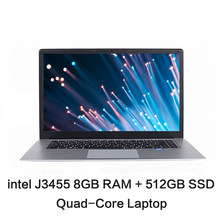 15.6 polegadas ips 1920x1080 intel j3455, quad core, computador, 8gb ram 128gb 256gb 512gb ssd rom windows 10 laptop ultrabook