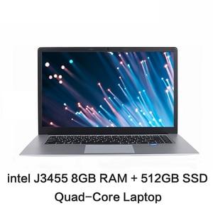 15.6 inch IPS 1920x1080 intel J3455 Quad Core Notebook Computer 8GB RAM 128GB 256GB 512GB SSD ROM Windows 10 Laptop Ultrabook