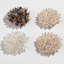Rhinestone-Buttons Dress Shoes Decoration Flower Pearls Crystal Fashion 200PCS for Jewelry