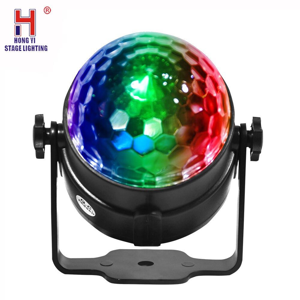 Bola de discoteca luz estroboscópica, atmosfera interior do carro dj luz som função ativa controle remoto para festa acampamento
