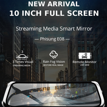 New 10 Car DVR IPS Touch 4G Mirror DVR Android ADAS GPS FHD 1080P WIFI Rear View Mirror With Camera for Phisung E08 plus image