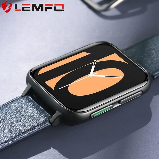 LEMFO DT93 Smart Watch 2020 Men Bluetooth Call ECG Heperboloid HD Screen 420*485 Resolution MP3 Function Customized Dials PK DTX 1