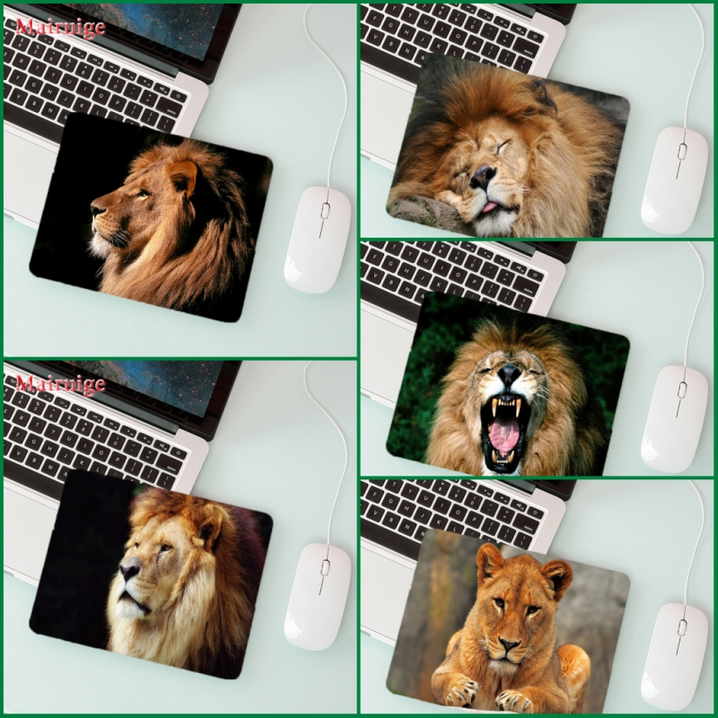 Mairuige Big Promotion Laptop Mouse Pad Wild Animal Lion   Player Playing  Small Size 180 * 220  2mm