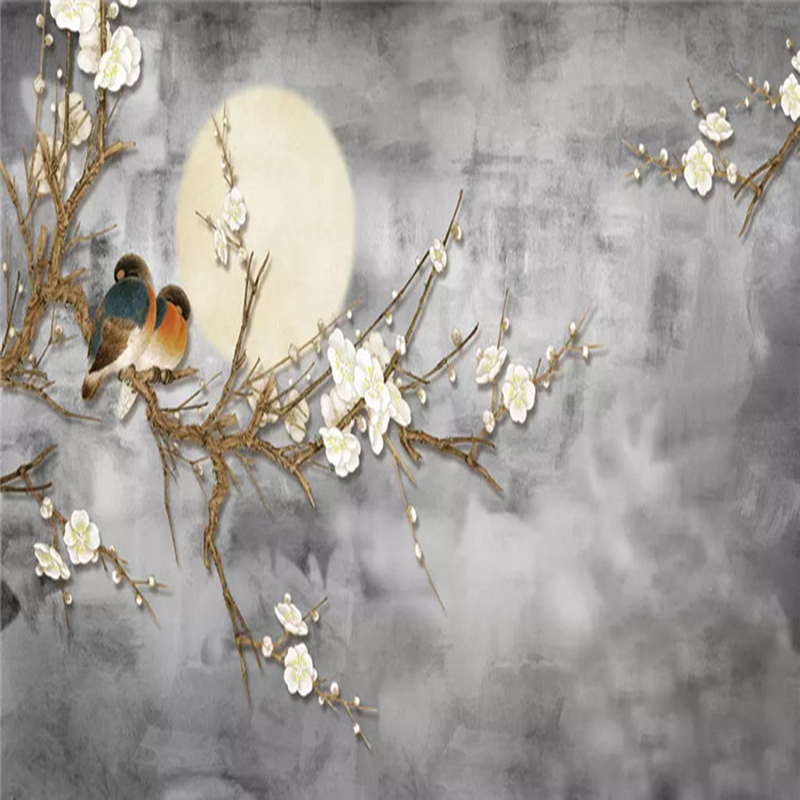Photo-Wallpaper-3D-Chinese-Style-Flowers-And-Birds-Wall-Painting-Living-Room-TV-Sofa-Bedroom-Background (3)