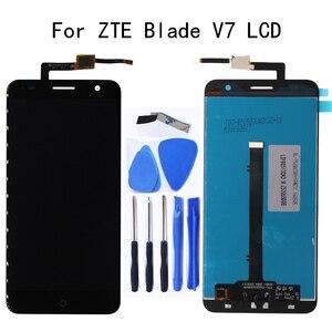 Image 1 - 100% pracy test 5.2 cal do ZTE V7 wyświetlacz LCD + ekran dotykowy digitizer części zamiennik dla ZTE V7 akcesoria ZESTAW DO NAPRAWIANIA