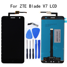 100% test work 5.2-inch For ZTE V7 LCD Display + touch screen digitizer component replacement for ZTE V7 accessories Repair kit for zte blade v7 lcd assembly display touch screen replacement for zte v7 phone free shipping