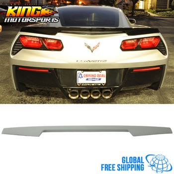 Fit For 14-16 15 Chevrolet Corvette C7 Trunk Spoiler - Unpainted ABS Global Free Shipping Worldwide