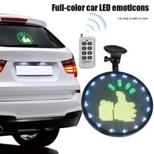 Drop Ship Controlled Emoji Car Display Glow LED Light Logo with Remote Control V-Best