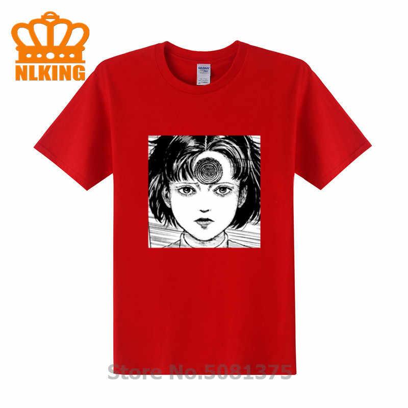 Редкое Джунджи Ito коллекции ужас готическое панковская футболка вихревой Узумаки косплей костюм, унисекс Повседневная хлопковая футболка футболки