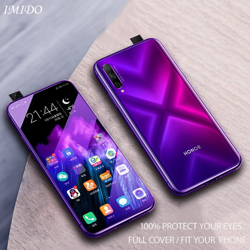 IMIDO Full Coverage Anti blue Tempered Glass for Huawei Honor 9X Anti Blue Screen Protector for Huawei Honor 9X Protective Film in Phone Screen Protectors from Cellphones Telecommunications