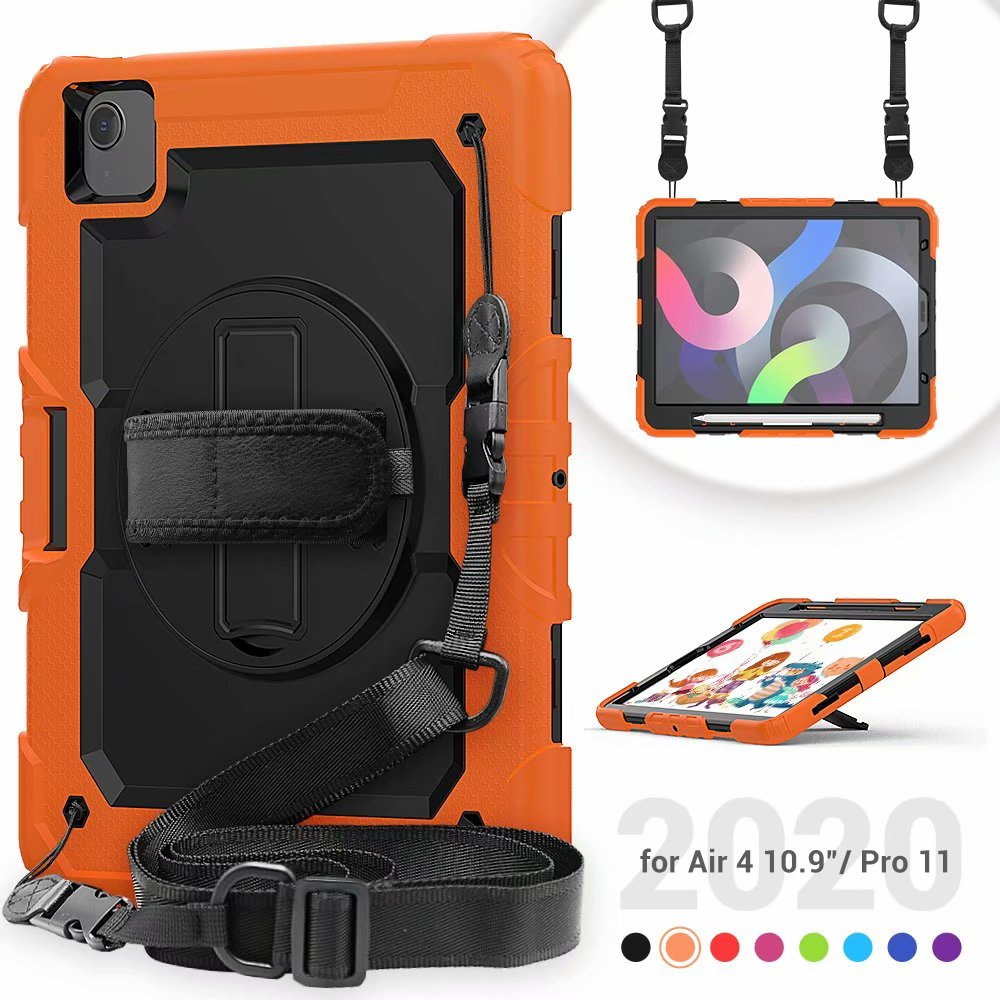 Duty Protective Air Screen Case 4th Kickstand For Generation iPad with Film Silicone Heavy