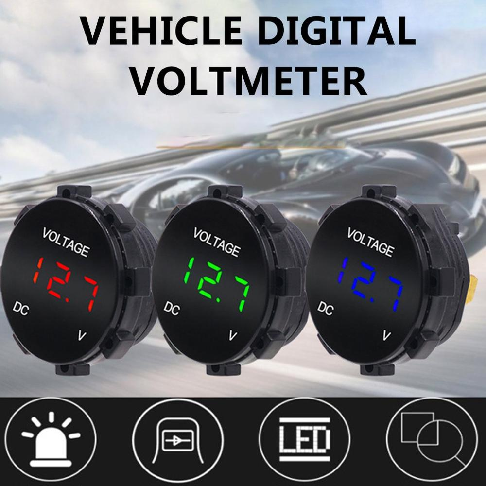 Universal Car Heavy Duty Fusebox Digital Voltmeter Display with LED Light