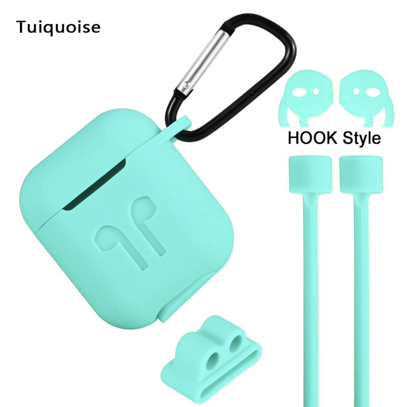 <font><b>5</b></font> <font><b>In</b></font> <font><b>1</b></font> <font><b>Case</b></font> Protective Silicone Cover <font><b>Case</b></font> Shockproof Earpods <font><b>Case</b></font> Accessories For <font><b>AirPods</b></font> image