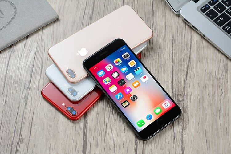 Original apple iphone 8 plus hexa núcleo ios 3gb ram 64-256gb rom 5.5 polegada 12mp impressão digital 2691mah lte telefone móvel 4