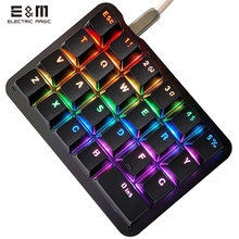 23 Keys Macro DIY Programmable RGB Backlight Mechanical Keyboard Electric Contest Games PC Laptop MAC WIN7 8 10 Outemu Switch