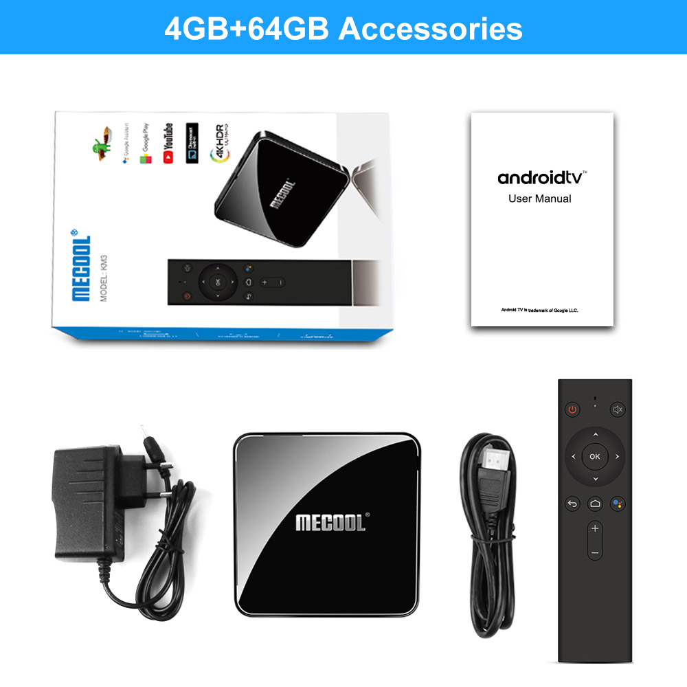 Mecool KM3 TV Box Android 9.0 Google Certified Androidtv Amlogic S905X2 4G 64G KM9 Pro 2/16G 4/32G 4K Wifi Smart TV Box H96 max