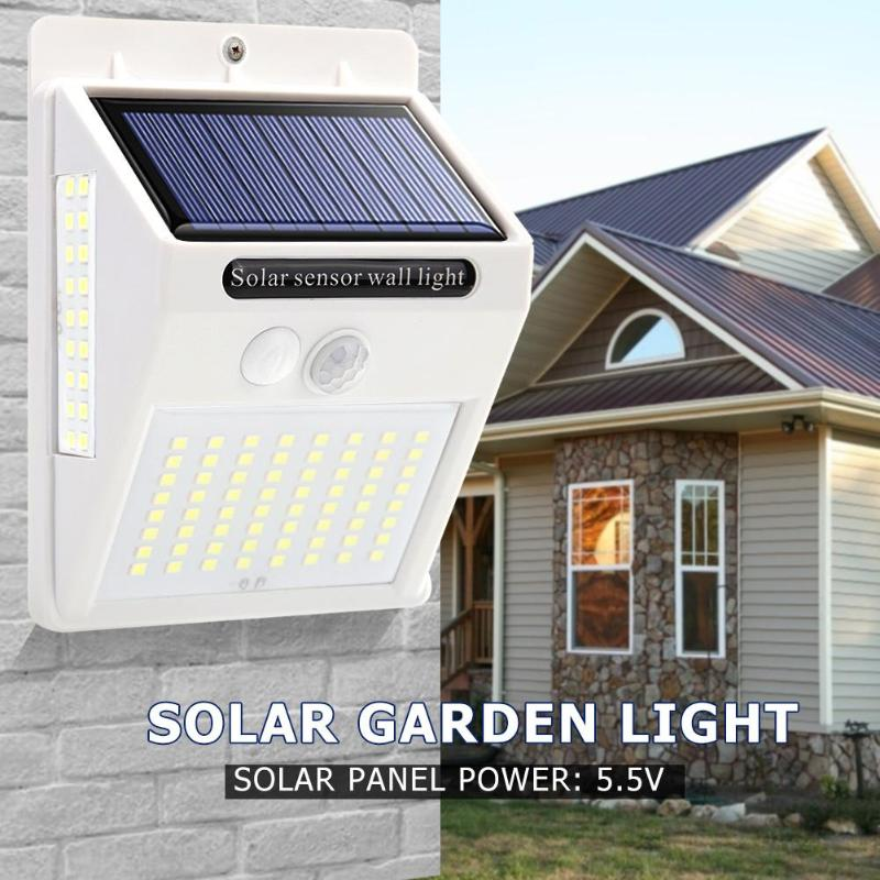 100LED Three-sided Solar Motion Sensor Wall Light Outdoor Yard Street Lamp Waterproof Solar Light  Garden Lamp Dropshipping