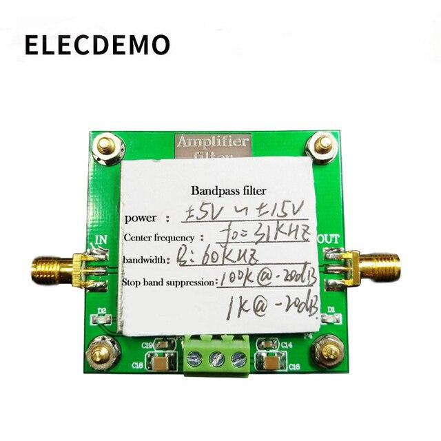 مرشح ترددات النطاق الترددي وحدة مرشح 8th الطلب تردد مركز 31KHz عرض النطاق الترددي 60KHz قمع حزام التوقف