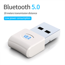 USB wtyczka bluetooth Adapter V5.0 dla komputer stancjonarny laptopa bezprzewodowa muzyka głośnik audio słuchawki odbiornik nadajnik Transmisor