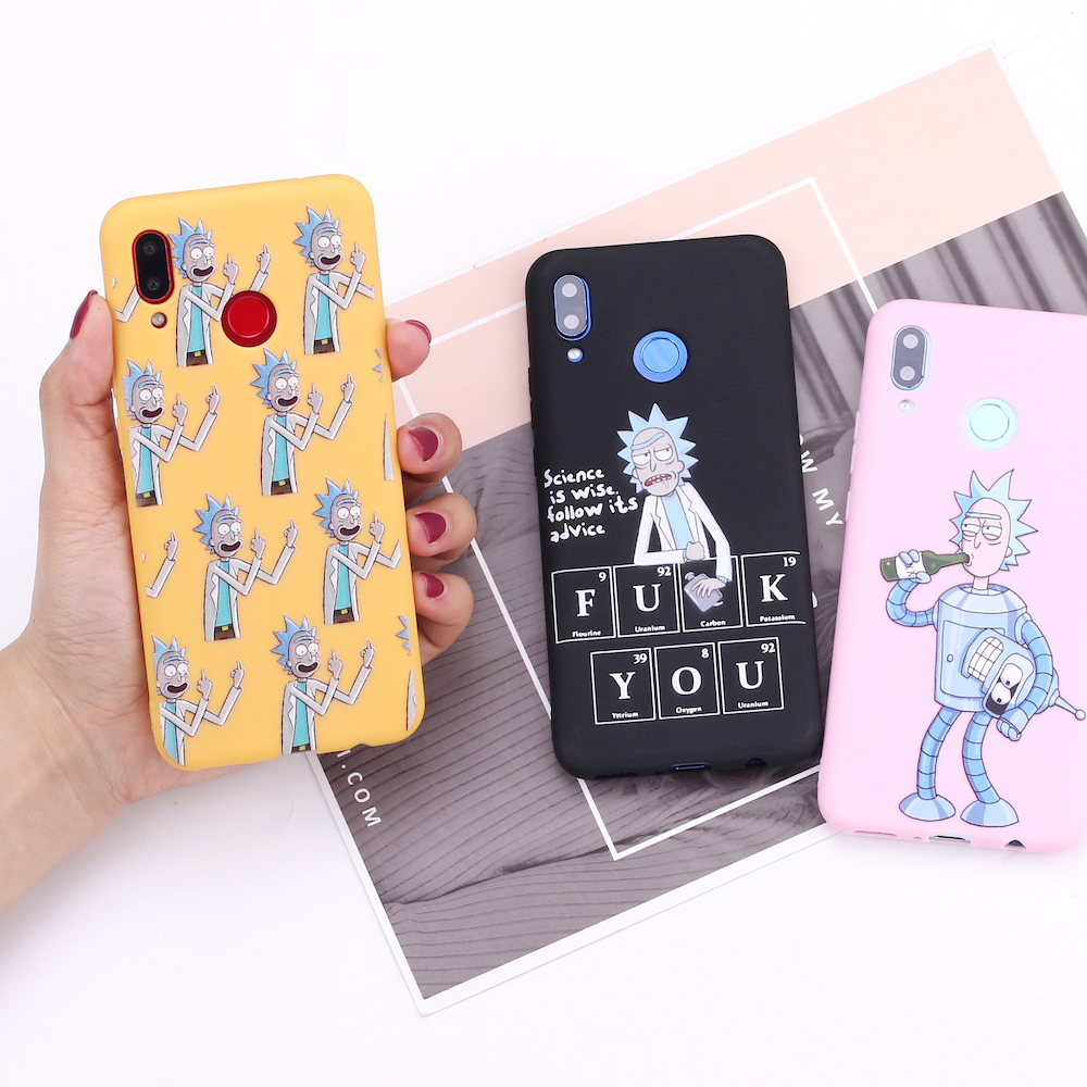 For <font><b>Samsung</b></font> S8 S9 S10 S10e S20 Plus Note 8 9 10 A7 A8 Rick And Morty Memes <font><b>Funny</b></font> Comic Cartoon Silicone Phone <font><b>Case</b></font> Cover Fundas image