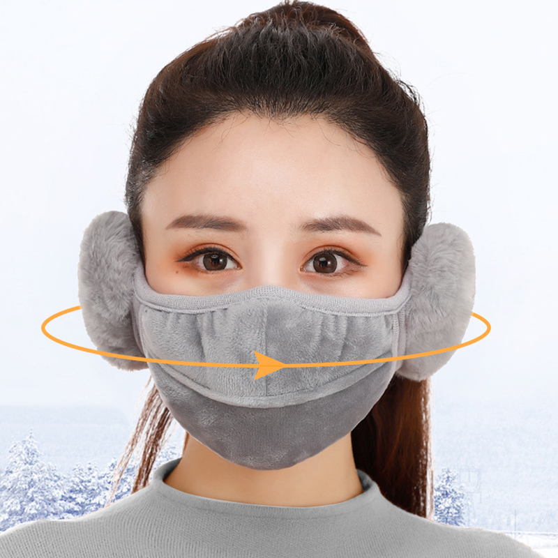 New Warm Breathable Lengthened Mouth Mask Protect Ears Mask PM2.5 Filter Protection Cycling Windproof Anti-Dust Mouth Face Mask