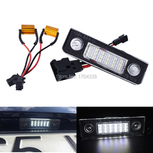 купить 2x Car White Canbus LED License Plate Light for Skoda Octavia Roomster 5J Auto Warning Lamp  Error Free онлайн