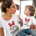 1PCS Mini & Mama Maus T-Shirt Familie Passenden Kleidung Sommer Mode Baumwolle Tops Mutter und Daugther Familie Sieht Kleidung