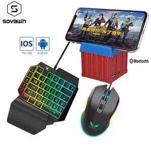 Контроллер управления мобильным геймпадом Airdrop Box PUBG, Bluetooth 4,0, игровая клавиатура, мышь, конвертер для телефонов Android, ios и ПК Чип MTK