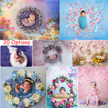 Photography Newborn Children Portrait Backdrop for Photo Studio Flowers Floral Children Birthday Background Abstract Texture