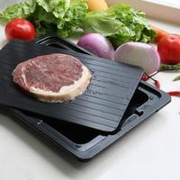 Bandeja de descongelação rápida com limpador de carne congelada descongelar alimentos placa placa de descongelamento cozinha ferramenta|Bandejas de descongelar| |  -