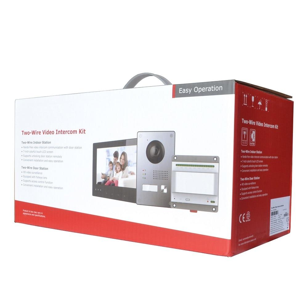 HIK original 2-Wire IP Video Intercom KIT Bundle Multi-language HD 2MP,IP doorbell,dooe phone,waterproof