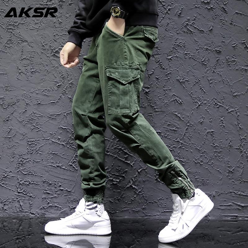 New Fashion Men's Cotton Pants Streetwear Hip Hop Sweatpants Joggers Trousers Tactical Pants Male Cargo Pants Pantalones Hombre