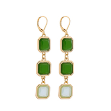 2019 New Styles Fashion Jewelry Long Earrings Light Green Square Pendant Gifts