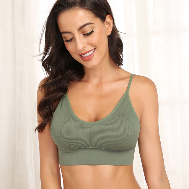 Women Tank Crop Top Seamless Underwear Female Crop Tops Sexy Lingerie Intimates Fashion With Removable Padded Camisole 1/2Pcs 2